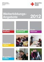 Weiterbildungs- Angebote - DRK Sozialwerk