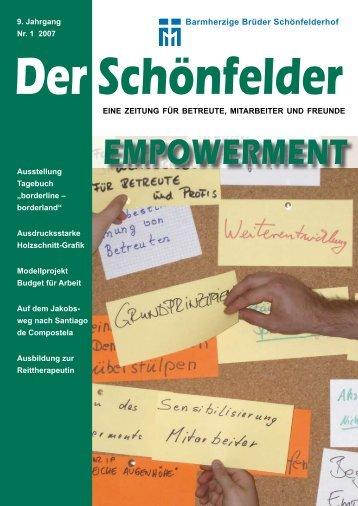 9. Jahrgang Nr. 1 2007 - Barmherzige Brüder Schönfelderhof