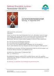 Newsletter 9 - Golfclub Rheinblick
