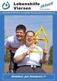 Nr. 114 – Juni 2010 Viersen Lebenshilfe - Lebenshilfe Viersen eV