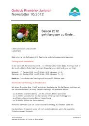 Newsletter 10/2012 - Golfclub Rheinblick