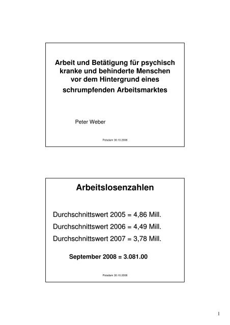 """Peter Weber """"Arbeit und Betätigung für psychisch kranke - Liga der ..."""