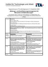 Programm als PDF-Datei - Institut für Technologie und Arbeit e.V.