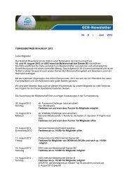 Turnierbetrieb im August - Golfclub Rheinblick