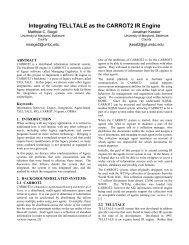 Integrating TELLTALE as the CARROT2 IR Engine - Computer ...