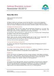News Mai 2012 - Golfclub Rheinblick