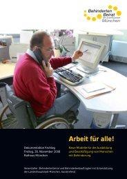 Arbeit für alle! - Behindertenbeirat München