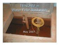TENORM in Water Filter Backwash