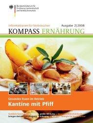 KOMPASS 2/2008: Kantine mit Pfiff - Gesundes Essen im ... - BMELV
