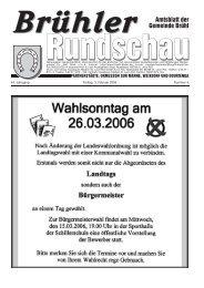 Amtsblatt KW05 2006 - Gemeinde Brühl