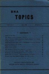 BNA Topics, Vol. 5, No. 4, April 1948