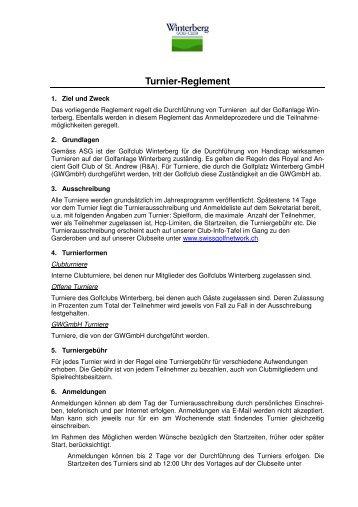 Turnier-Reglement - Golfclub Winterberg