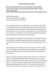 Rede des Bezirkstagspräsidenten von Niederbayern, Manfred ...