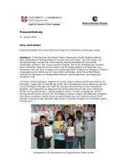 PM Englisch-Zertifikate für Hamburger Kinder - Cambridge ESOL