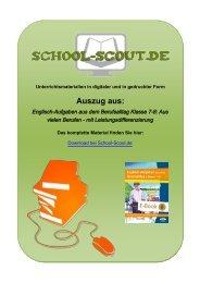 Englisch-Aufgaben aus dem Berufsalltag Klasse 7-8 ... - School-Scout