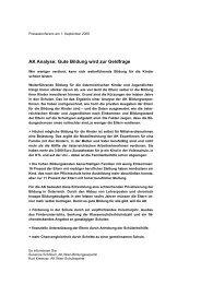 Presseunterlage vom 1.9.2006 - Arbeiterkammer Wien
