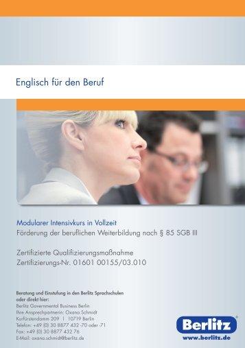 FBW Englisch Beruf_A5_Berlin_SPEZIAL.indd - Berlitz Deutschland ...