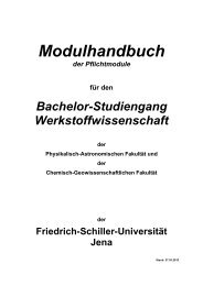Modulhandbuch - Physikalisch-Astronomische Fakultät - Friedrich ...