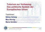 Tutorium 5. Sitzung - Jean Monnet Lehrstuhl - Universität zu Köln