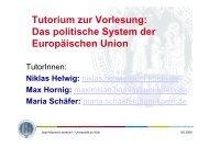 7. Sitzung - Jean Monnet Lehrstuhl - Universität zu Köln