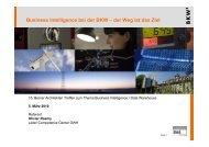 Business Intelligence bei der BKW - Berner Architekten Treffen