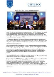 PRESS RELEASE – SEOUL KOREA CONGRESS - Cidesco