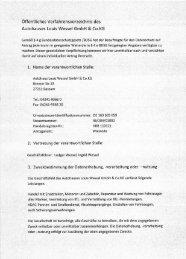 Öffentliches Verfahrensverzeichnis - Autohaus Wessel