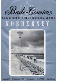 Weihnachtsbadekurier 1962 - Chronik der Insel Norderney