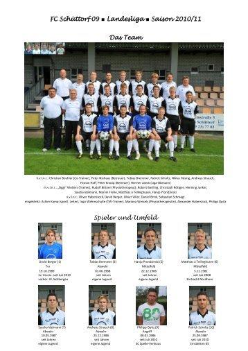 FC Schüttorf 09 Landesliga Saison 2010/11 Das Team Spieler und ...