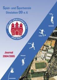 Saisonheft 2004/05 - Der SuS 09 eV Dinslaken im Internet