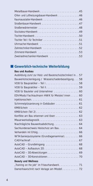 Lehrgangsprogramm - Lehrgänge - Handwerkskammer Münster