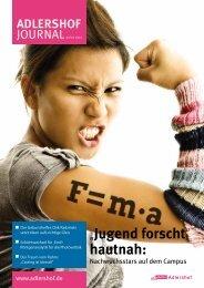 """""""Jugend forscht"""" hautnah: - Adlershof"""