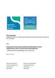 Stellungnahme zum Referentenentwurf des Notfallsanitätergesetzes