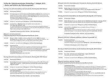 Treffen der Arbeitsloseninitiative Werkschlag 1. Halbjahr 2010 ...