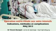 Epuration extra-rénale aux soins intensifs