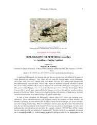 BIBLIOGRAPHY OF SPHECIDAE sensu lato - Academy Research ...