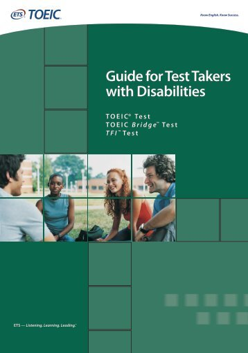Guide for Test Takers with Disabilities - ETS