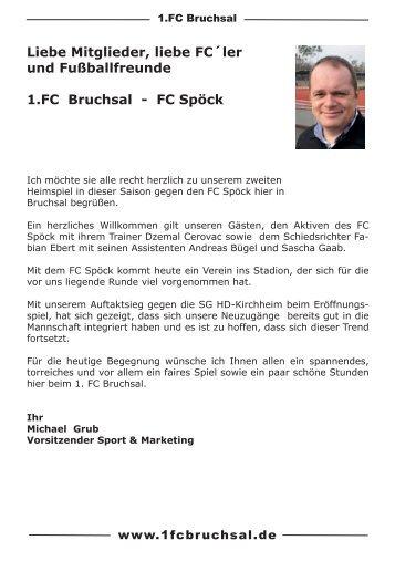 Stadionheft Nr. 2 FC Spöck - 1.FC Bruchsal