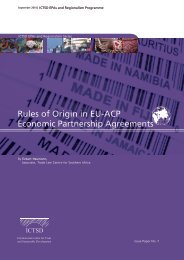 Rules of Origin in EU-ACP Economic Partnership Agreements - ICTSD