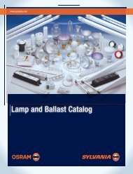 Lamp and Ballast Catalog - Osram Sylvania