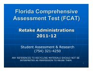 Florida Comprehensive Assessment Test (FCAT) Retake ...
