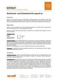 Schimmel- und Schwamm-Ex epasit ex
