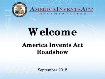 AIA Roadshow Presentation - U.S. Patent and Trademark Office