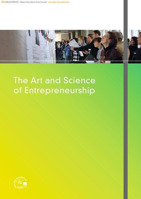 The Art and Science of Entrepreneurship - Entrepreneurship.de