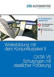 Weiterbildung mit dem Konjunkturpaket II CATIA V5 Schulungen mit ...