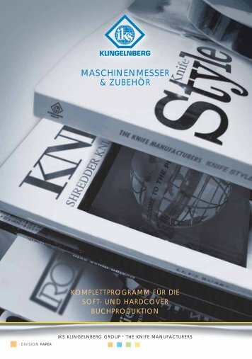 Komplettprogramm für die Soft- und Hardcover Buchproduktion