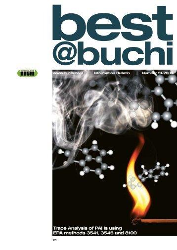 Trace Analysis of PAHs using EPA methods 3541, 3545 and ... - Buchi