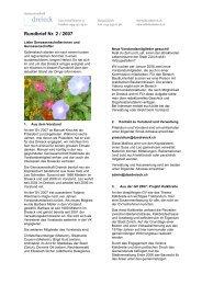 Rundbrief Nr. 2 / 2007 - Genossenschaft Dreieck