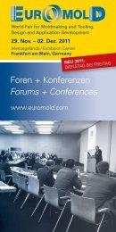 Foren + Konferenzen Forums + Conferences - Euromold - Demat