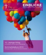 0. Liesinger Kirtag Sommerbibelkurs 20 0 - Evangelische ...